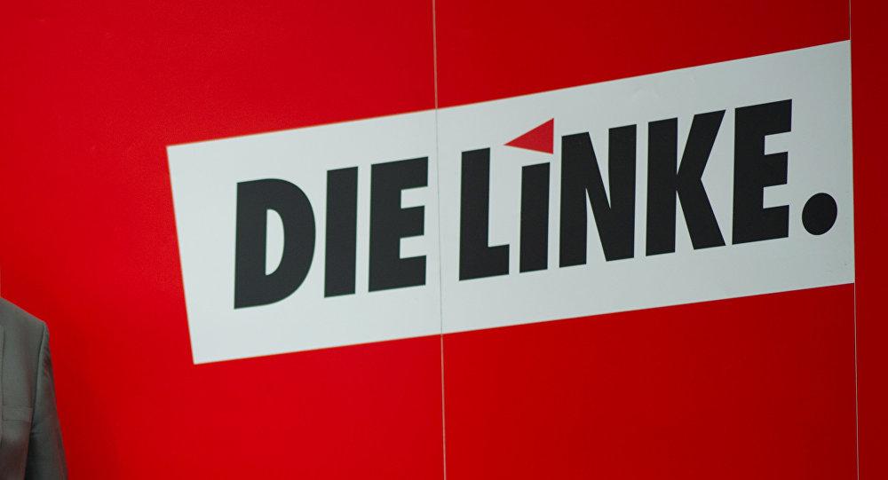 El logo del partido Die Linke (la Izquierda)