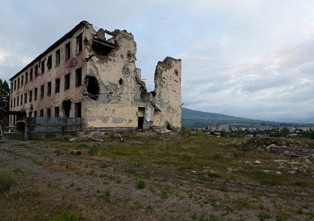 Consecuencias de la guerra en Osetia del Sur en 2008 (archivo)
