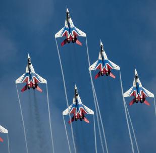 Los Vencejos (Strizhi) en los MiG-29 (archivo)