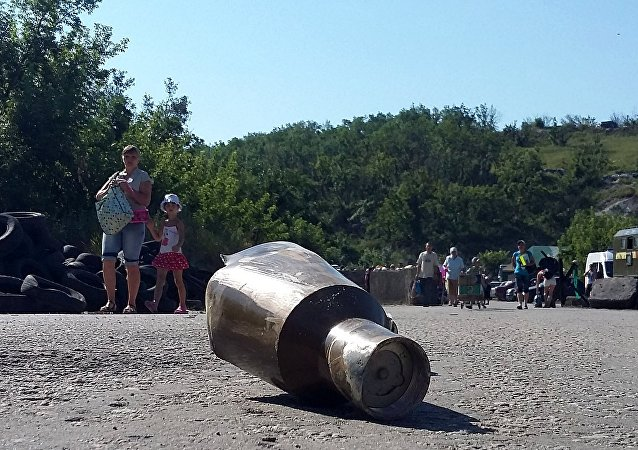 Un proyectil en Donbás (archivo)