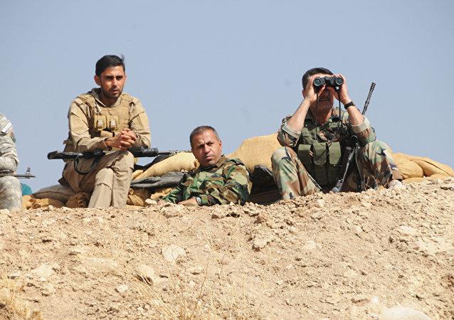 Los kurdos peshmerga (archivo)