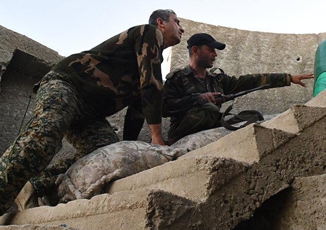 Militares del Ejército Sirio