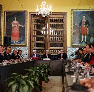 Ministros de Exteriores de los países americanos durante la reunión en Lima