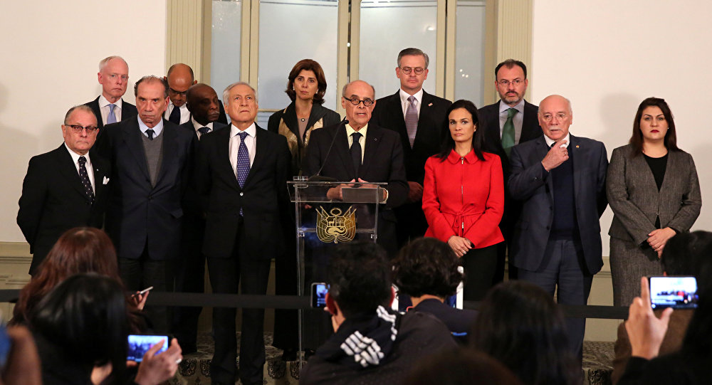 Ministros de Exteriores de los países americanos en Lima, Perú