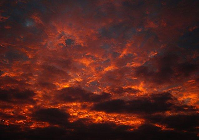Un cielo apocalíptico (imagen referencial)