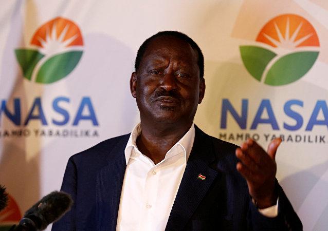 Raila Odinga, líder de la oposición keniana