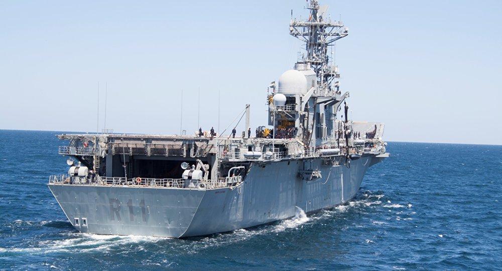 El portaviones Príncipe de Asturias (R-11) de la Armas de España