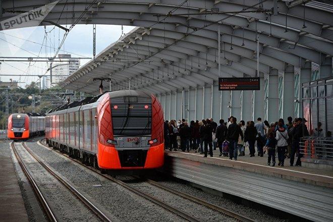 Los trenes modernos del Círculo Central de Moscú