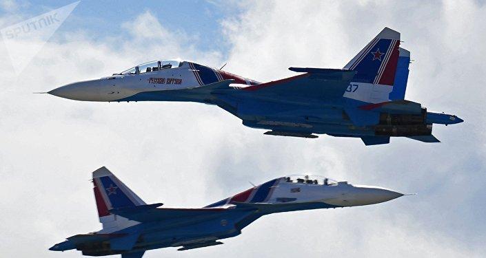 El caza Su-30 (archivo)