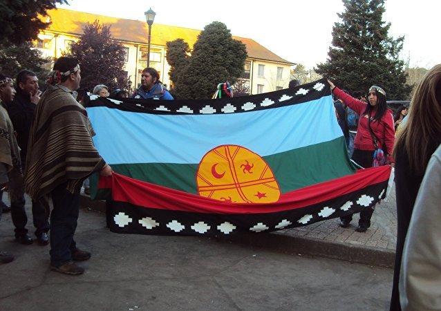 La bandera de mapuche