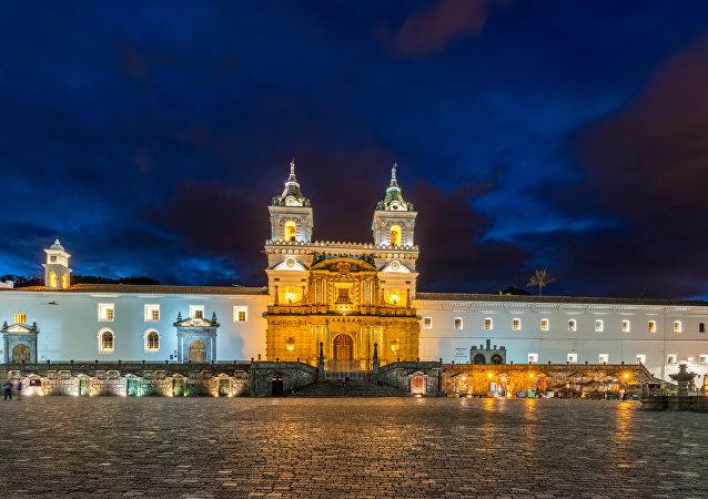 Iglesia de San Francisco, Quito, Ecuador (archivo)