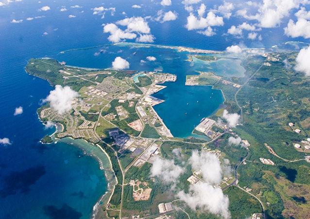 Una base estadounidense en la isla de Guam