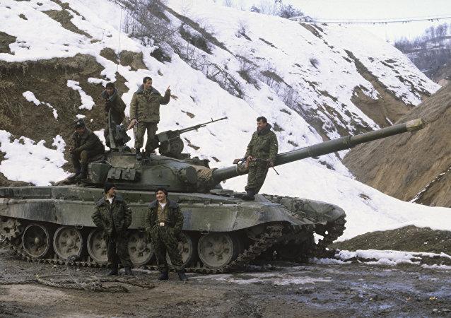La guerra civil de Tayikistán (archivo)