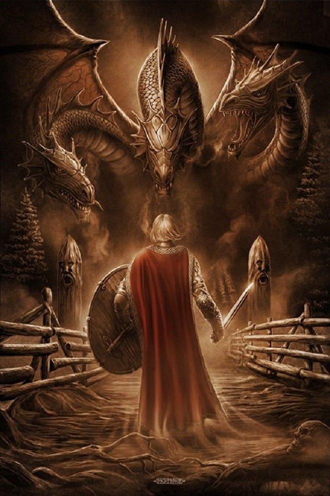 El mítico Puente de Kalínov, lugar de la batalla de los guerreros eslavos contra la serpiente-dragón de múltiples cabezas