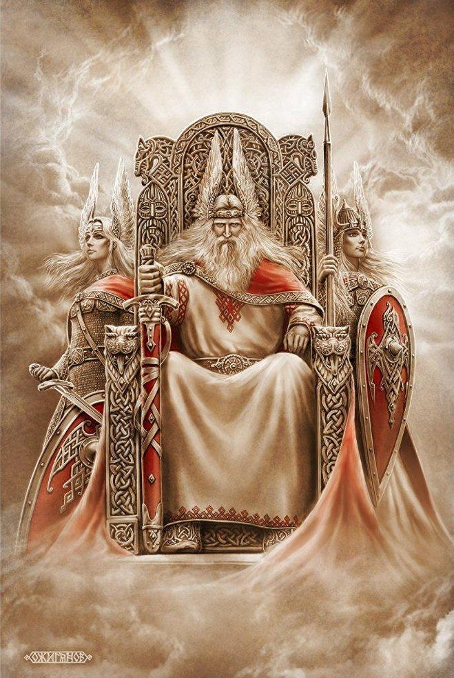 Rod, el mítico personaje eslavo que representa la unidad de los descendientes de una familia y los lazos familiares en general. Rod, de hecho, es una antigua palabra rusa para 'familia'