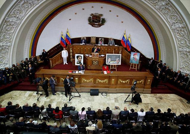 Sesión de la Asamblea Nacional Constituyente en Venezuela (archivo)