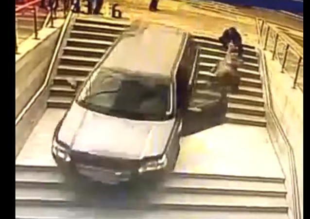 Accidente de auto en Vitacura (Chile)