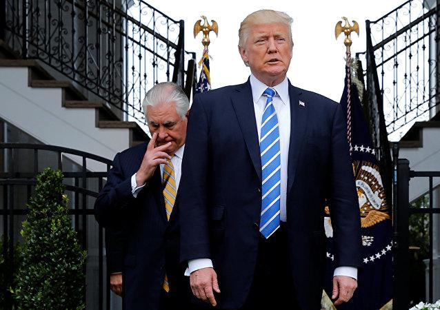 Rex Tillerson, secretario de Estado de EEUU, y Donald Trump, presidente de EEUU