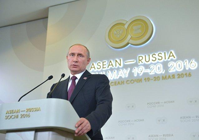 Vladímir Putin, presidente de Rusia, durante la cumbre de Rusia-ASEAN de 2016 (archivo)