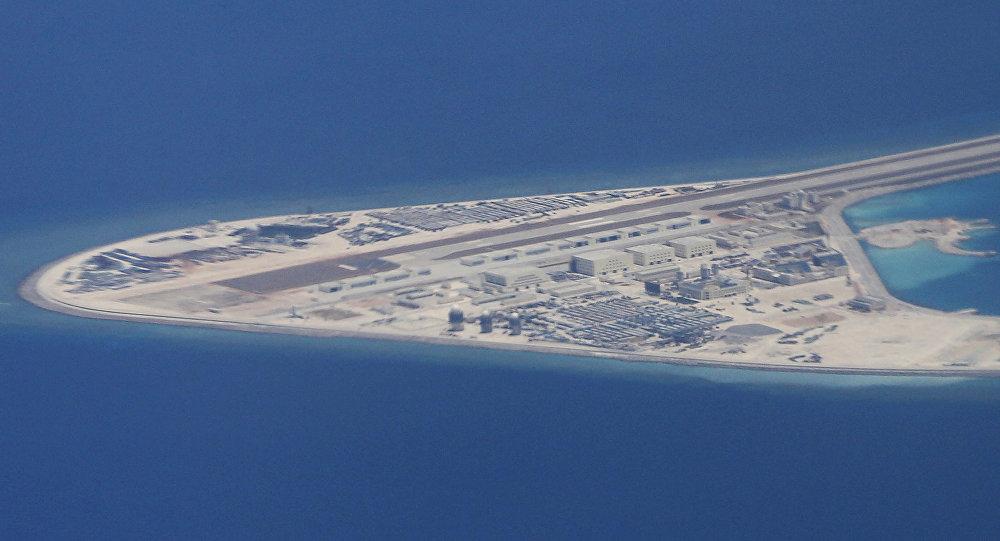 Islas de arena en el mar del Sur de China (archivo)