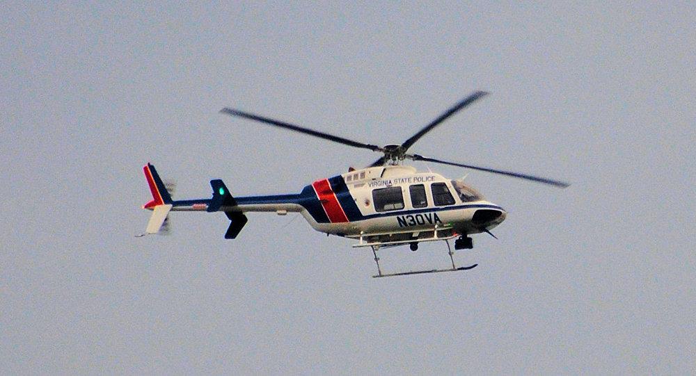 Helicóptero de la policía de Virginia, EEUU (imagen referencial)