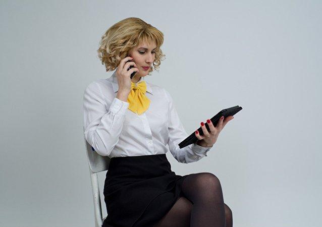 Una mujer de negocios (imagen referencial)