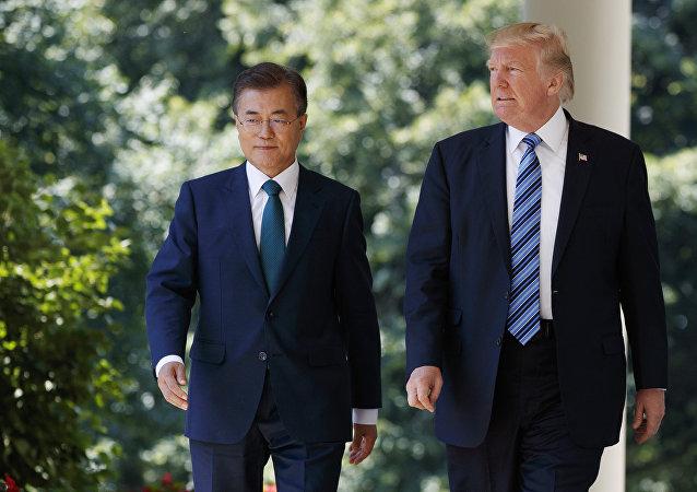 Presidente de Corea del Sur, Moon Jae-in, y presidente de EEUU, Donald Trump (archivo)