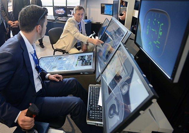 Simulador de vuelo en el Salón Aeroespacial MAKS 2017 (imagen referencial)