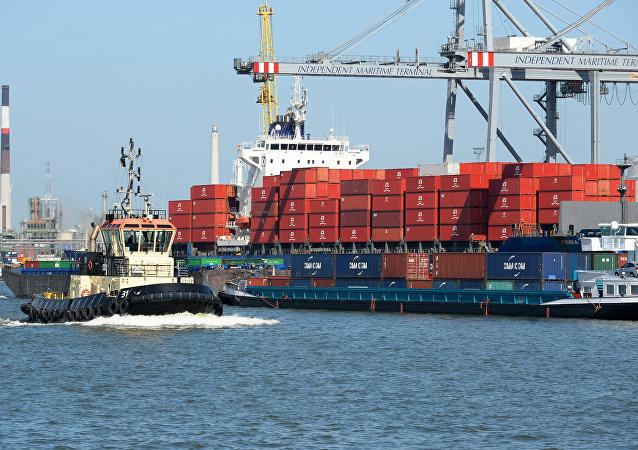 El puerto de Amberes (archivo)