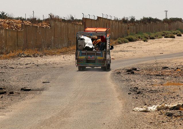 Un camión en Siria