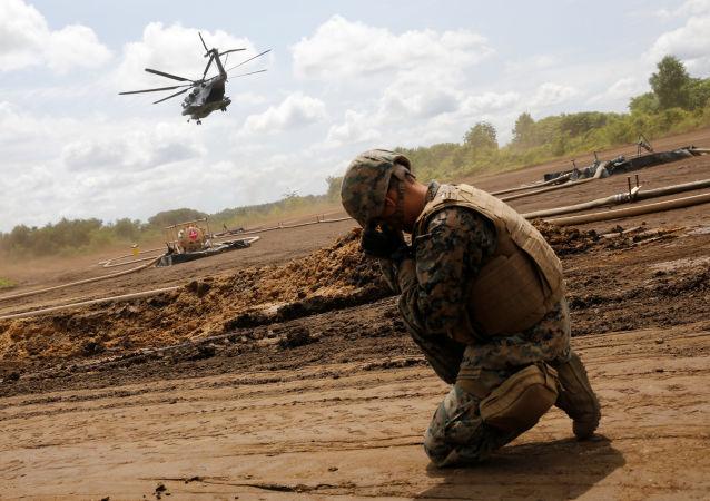 Un soldado estadounidense, durante las maniobras en Hokkaido