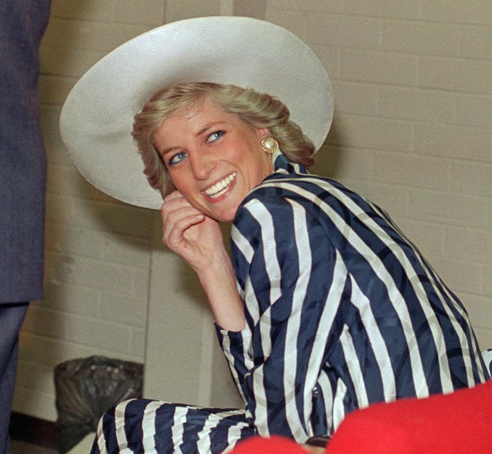 La princesa Diana, durante su visita a Melbourne, Australia, en enero de 1988
