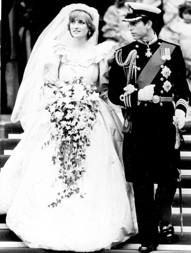 La boda del príncipe Carlos y la princesa Diana, en 1981