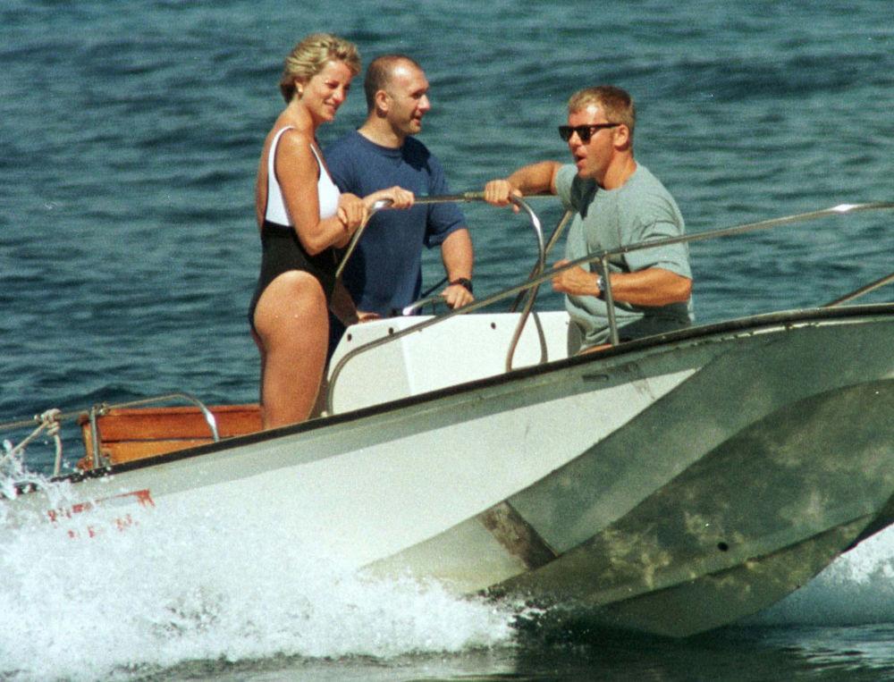 La princesa Diana durante sus vacaciones en la Riviera Francesa, en 1997