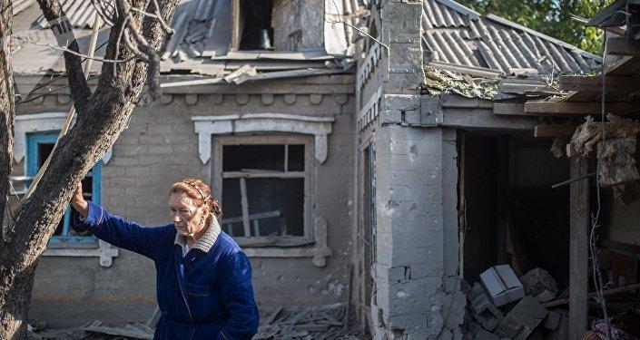 Consecuencias de bombardeos en Donbás