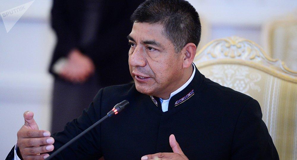 Fernando Huanacuni Mamani, ministro de Exteriores de Bolivia (archivo)