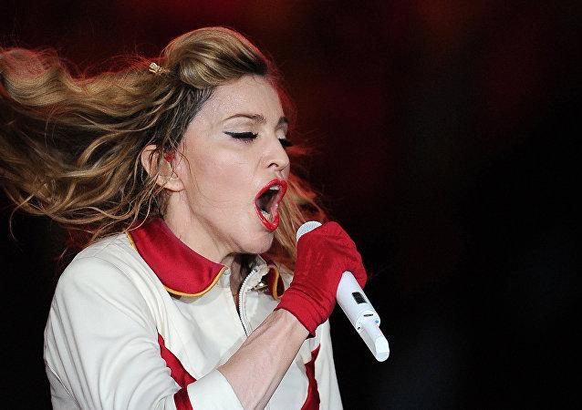 La cantante Madonna en un concierto en el complejo deportivo Olympiysky en Moscú, en 2012. (Archivo)