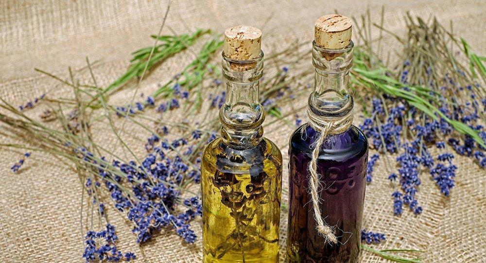 Botellas de unas soluciones medicinales
