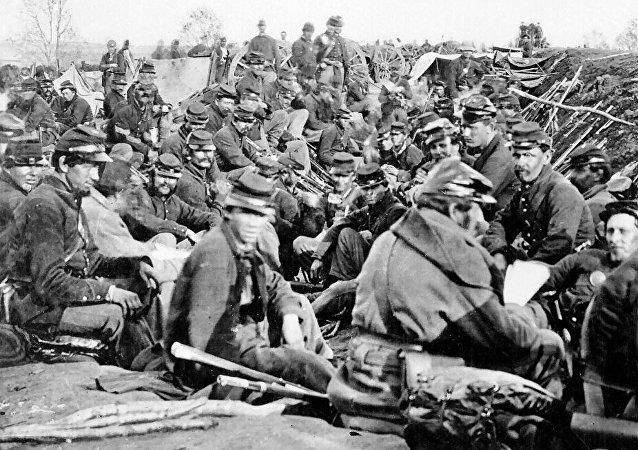 Soldados de la Unión, en 1865