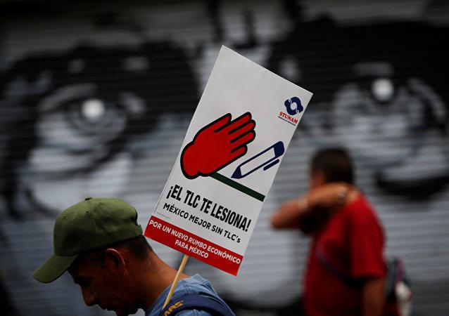 Protestas contra TLCAN en México