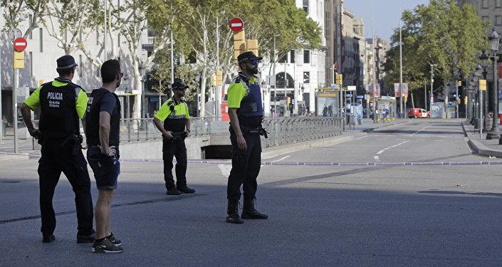 Los policías en Barcelona (archivo)