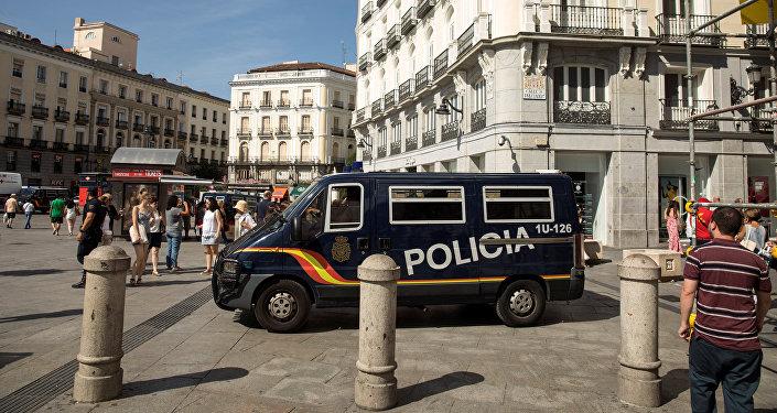 La Policía española en Madrid