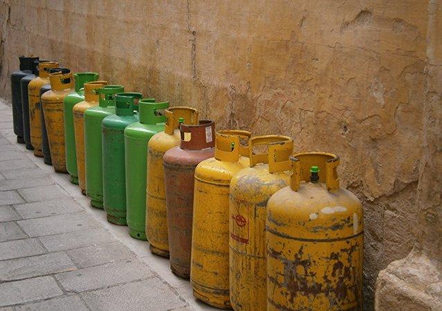 Bombonas de gas butano