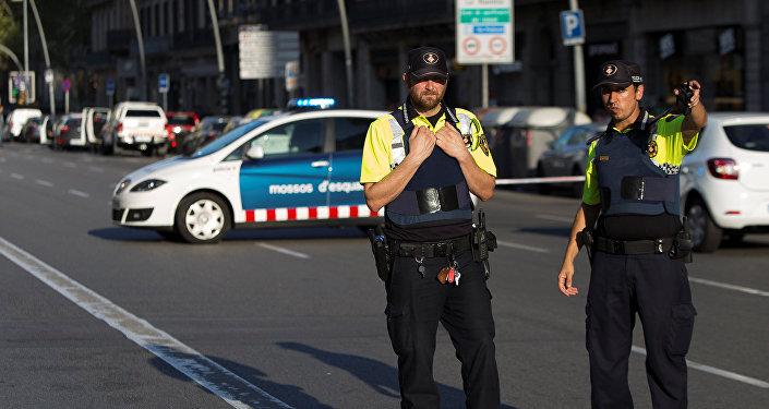 Manifestación de extrema derecha en Barcelona tras el atentado terrorista