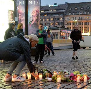 Turku, Finlandia, tras el ataque.