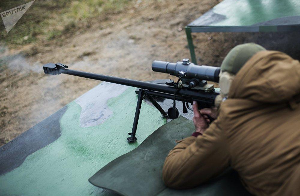 El Fusil de Francotirador de Gran Calibre del Ejército (ASVK) en acción