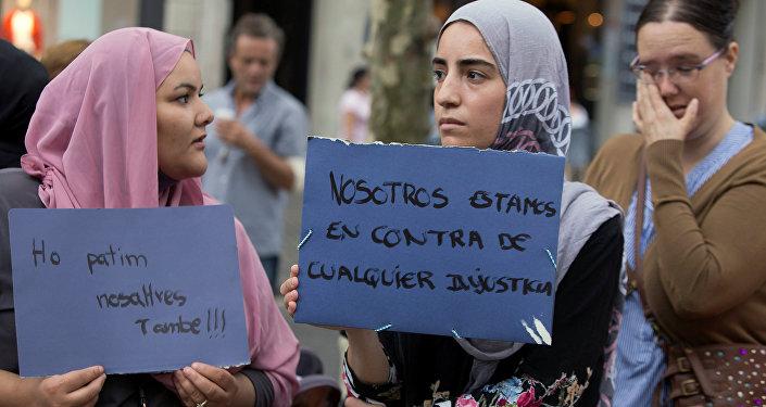 Mujeres musulmanas tras el atentado en Barcelona