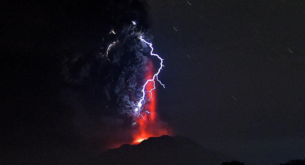 Una erupción volcánica (imagen referencial)