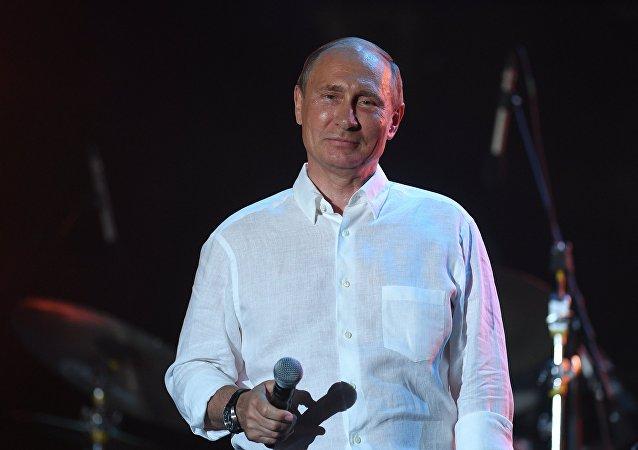 Vladímir Putin en el festival Koktebel Jazz Party