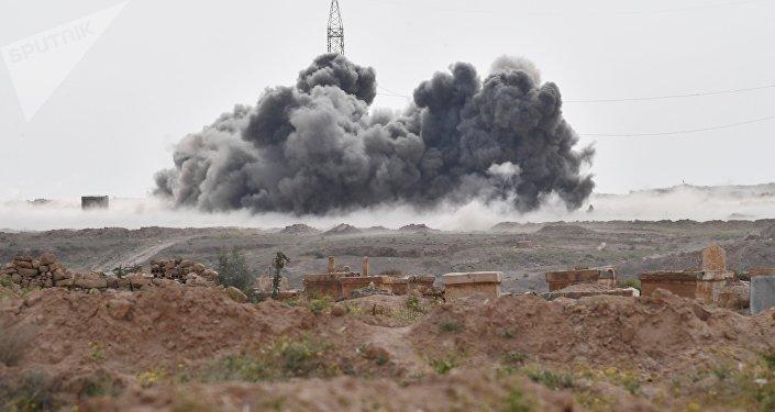 Los ataques de las Fuerzas Aeroespaciales de Rusia contra las posiciones de Daesh (archivo)
